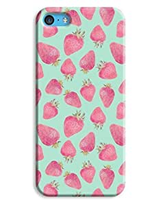 Strawberry Blue Food Yummy Design iPhone 6 plus (5.5) Hard Case Cover