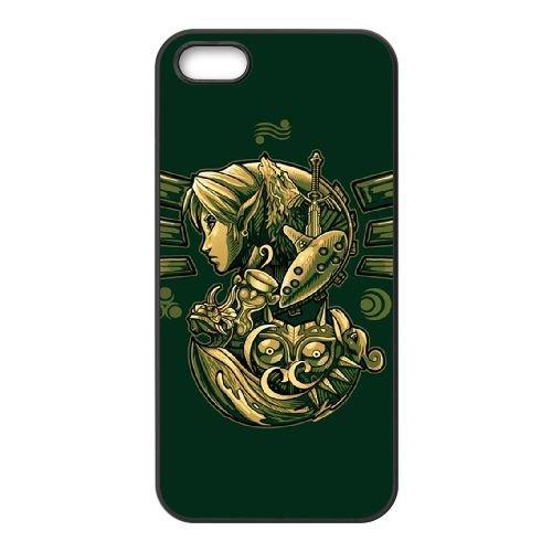 W3P24 Legend of Zelda W7Y6MP coque iPhone 5 5s cellulaire cas de téléphone couvercle coque noire WY6SCD1SP