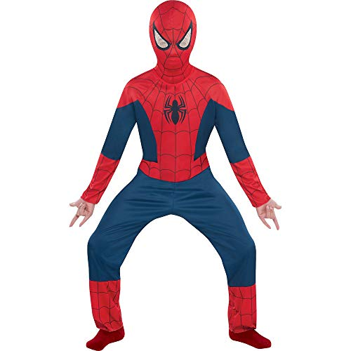 Costumes USA Classic Spider-Man Costume for Boys, Size Medium, Includes a Jumpsuit and a Breathable Hooded Mask]()