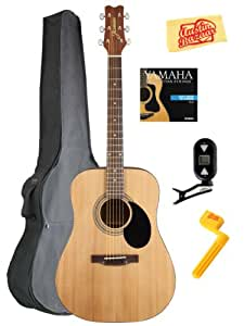 jasmine by takamine s35 dreadnought acoustic guitar bundle with gig bag tuner. Black Bedroom Furniture Sets. Home Design Ideas