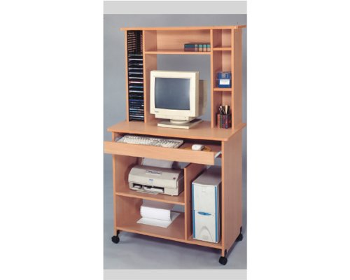 Computer Desk with Cd Rack in Oak Finish ADS6035 by Click 2 Go