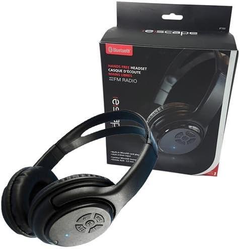 Amazon Com Escape Wireless Bluetooth Stereo Headphones With Fm Radio