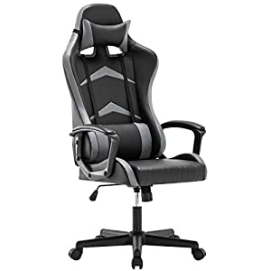 IntimaTe WM Heart Office Gaming Chair, High-back Racing Chair with Swivel Function, Back Support and Adjustable Headrest…