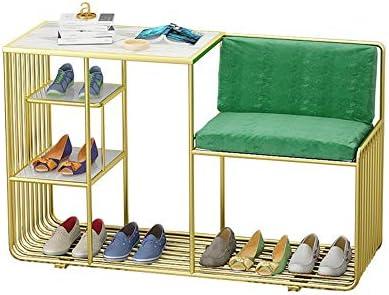玄関ベンチ スツール 収納ベンチ 靴収納 ベンチ パッド入りシートクッション、廊下のベンチ靴キャビネット靴ベンチ収納ベンチ エントランスベンチ 省スペース (色 : ゴールド, サイズ : Free size)