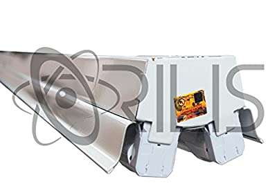 Orilis White LED 44 Watt 4 Ft 2-light Commercial Shop Light Fixture with (2) 22 Watt Single Ended T8 LED Tubes Included - 5000K (Day Light) - 5,200 Lumens - DLC - UL Listed - 5 Year Warranty