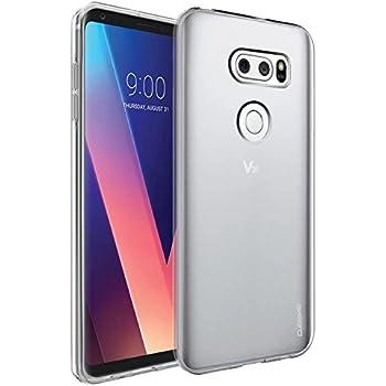 LG V30 Case, Cubevit LG V30 Cases Cover [Crystal Clear] Ultra-Thin Premium Transparent Soft TPU Silicone Scratch-Resistant Slim Protective Case for LG V30 2017