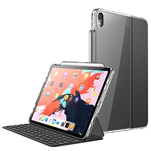 I Blason Halo V2 0 Series Case Designed For Ipad Pro 11 Inch Case 2018 For Use Only With Smart Keyboard Compatible With Official Smart Cover Hybrid Protective Case With Pencil Holder Clear 11