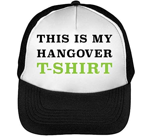 This Is My Hangover T Shirt Funny College Slogan Gorras Hombre Snapback Beisbol Negro Blanco