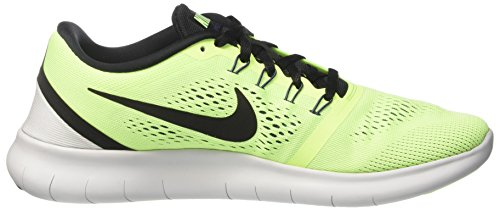 NIKE Mens Free RN Running Shoe (8.5, Ghost Green/Black-Blue Moon)