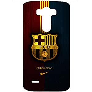 FC Barcelona Dark Color Famous Logo Charming Phone Case for LG G3