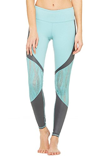Alo Yoga Women's Vitality Legging (Large, Agave/Slate Glossy)