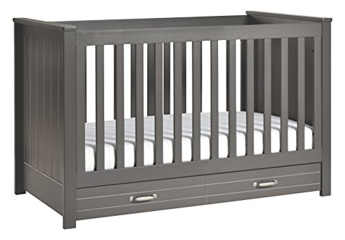 DaVinci Asher 3-in-1 Convertible Crib With Toddler Bed Conversion Kit, Slate