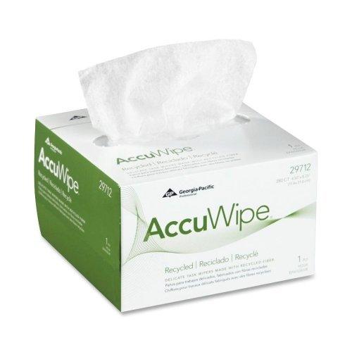 Wholesale CASE of 25 - Georgia Pacific Shur-Wipe Eyeglass Wipes-Accuwipe Eyeglass Wiping Cloth, 4-1/2