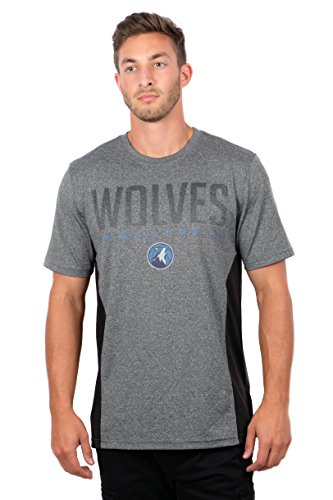 fan products of NBA Men's Minnesota Timberwolves T-Shirt Performance Short Sleeve Tee Shirt, X-Large, Gray