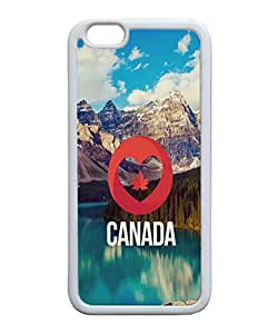 VUTTOO Iphone 6 Case, I Love Canada Nature Landscape TPU Rubber Case for Apple iPhone 6 4.7 Inch White Bumper