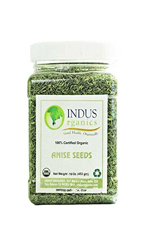 Indus Organics Indian Anise Seeds, 1 Lb Jar, Premium Quality, High Purity, Freshly Packed