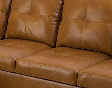 Beverly Fine Funiture Sectional Sofa Set Caramel
