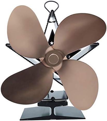 家電火力発電暖炉ファン熱パワード薪ストーブファン用ウッド/ログインバーナー/暖炉エコフレンドリー四つ葉のファン
