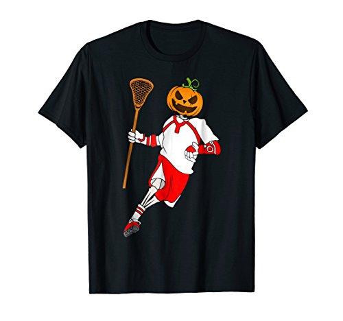 (Lacrosse Skeleton Pumpkin Head Costume T-Shirt October 31st)