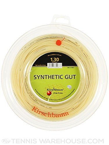 Kirschbaum Reel Synthetic Gut Tennis String, Natural, 1.30mm/16-Gauge - Natural Gut Tennis String