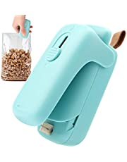 Mini Bag Sealer, 2 in 1 Draagbare Afdichtingsmachine, Handheld Keuken Warmtesealer met Cutter voor Plastic Zakken Voedselopslag Snack Verse Zak Sealer