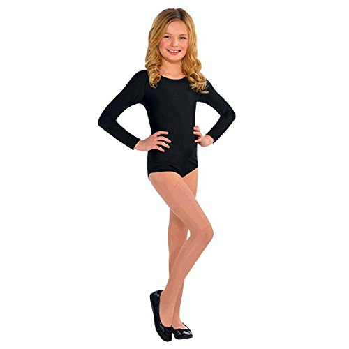 [Fashion-forward Bodysuit Party Costume, Black, Fabric , Children's Size - Small/Medium] (Black Bodysuit Costume)