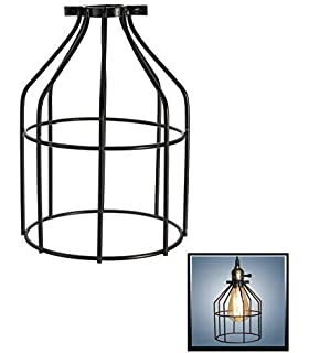 Refaxi retro iron wire guards bulb lamp shade metal lamp cage light metal lamp guardfashionclubs industrial bulb guard vintage lamp holderpendant wire lamp keyboard keysfo Images