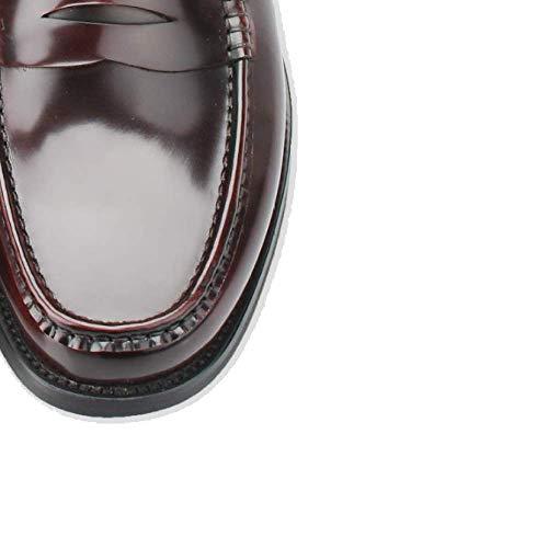 Pigro Stile College Trend Pelle Scarpe Scarpe Mocassini Red in Autunnali da Scarpe Stile Uomo Britannico wHwaTAYP