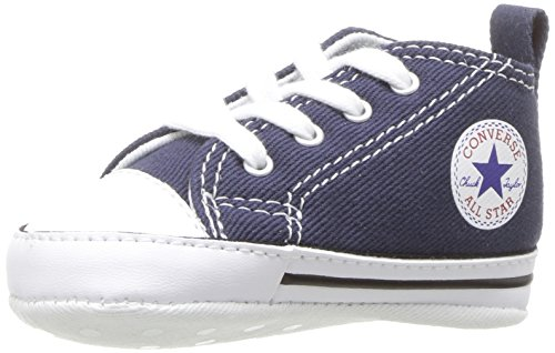 Converse Kids' First Star High Top Sneaker, Navy, 4 M US Toddler