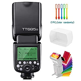 Godox TT685O TTL 2.4G GN60 High-Speed Sync 1/8000s Camera Flash Wireless Master Slave Speedlite Compatible for Olympus Panasonic Cameras with Diffuser & Filter & USB LED