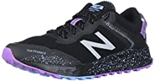 New Balance Women's Arishi V1 Fresh Foam Trail Running Shoe, Black/Purple/NEO Violet, 6.5 W US