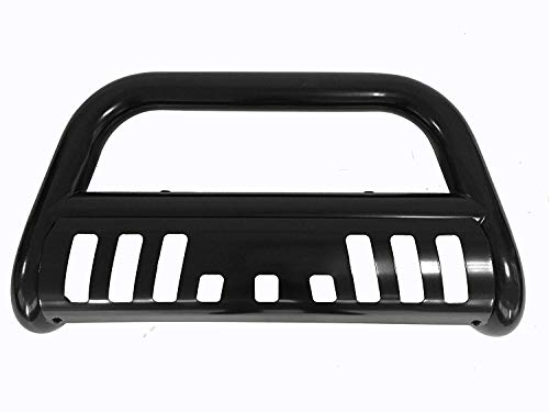 Span Bull Bar Skid Plate Front Push Bumper Grille Guard Black Steel for 2007-2014 Chevrolet Suburban 1500,Tahoe,Avalanche,GMC Yukon,Yukon XL 1500,Cadillac Escalade,Escalade ESV,Escalade EXT
