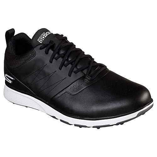 Skechers Men's Mojo Waterproof Golf Shoe, Black/Silver, 11 W US