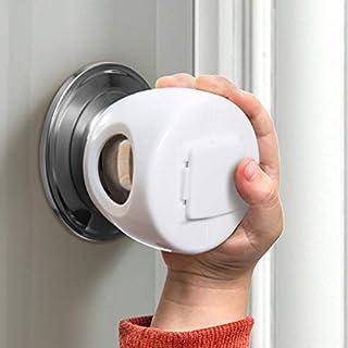 Door Knob Safety Cover for Kids, Child Proof Door Knob Covers, Baby Safety Doorknob Handle Cover Lockable Design. (4 Pack)