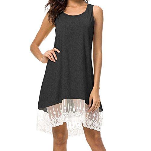 84de43b3e3fe24 Damen A-linie Kleid Elegant kleider Casual T-Shirt Kleid Sommerkleider  Strandkleider Knielang Festlich
