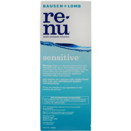 Bausch + Lomb ReNu Sensitive Gentle Cleansing Multi-Purpose Eye Contact Lens Solution 12 Fluid Ounces