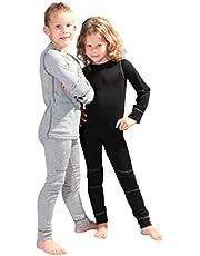 icefeld® - Ademend thermo-ondergoed set voor kinderen - warm ondergoed met lange mouwen en lange onderbroek (ÖkoTex100)