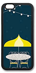 iPhone 6 Cases, Personalized Custom Soft TPU Black Edge Case Cover for New iPhone 6 4.7 inch Yellow Umbrella