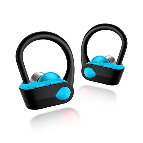 Bluetooth Headphones, Wireless Earbuds with Mic Hi-Fi Stereo Richer Bass Earphones 4 Hours Playback Sweatproof Secure Fit in Ear for Running,Jogging,Workout