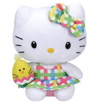 Ty Easter Beanie Babies Hello Kitty Chick -