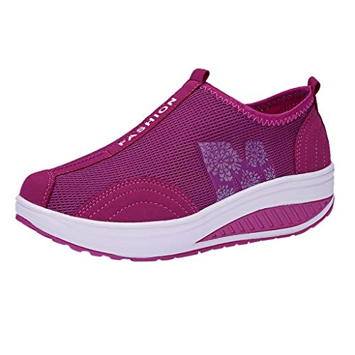 RAINED-Women's Air Running Tennis Shoes Lightweight Cross Trainers Workout Sport Gym Athletic Sneakers Hot Pink