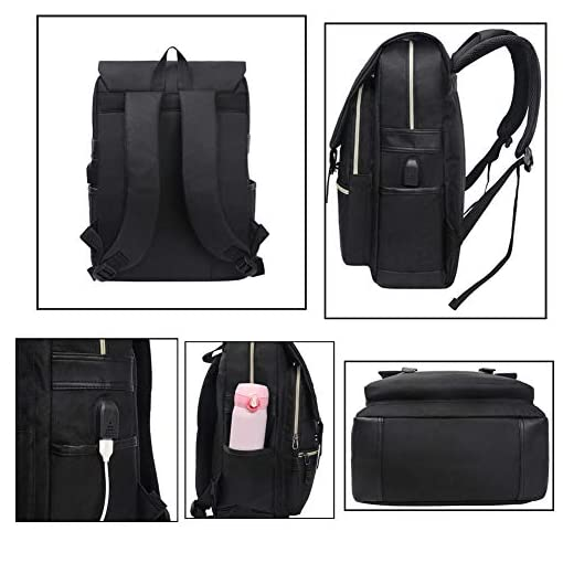 Unisex College Bag Fits up to 15.6'' Laptop Casual Rucksack Waterproof School...