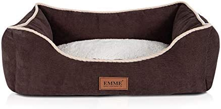 EMME Rectangle Dog Beds for Medium and Large Dogs Cats Ultra Plush Pet Beds with Non-Slip Bottom