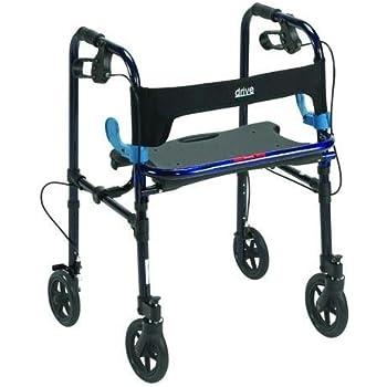 Amazon.com: Clever Lite Walker Plegable W/asiento y frenos ...