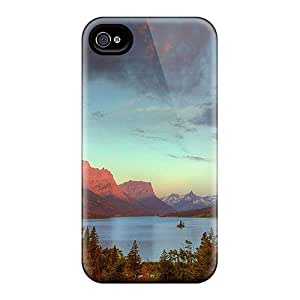 Excellent Iphone 4/4s Case Tpu Cover Back Skin Protector Glorious Mountain Lake by ruishername