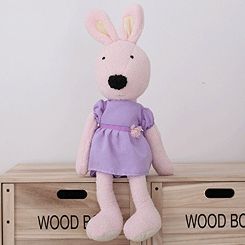 AWESOME Plush Toy Princess Bunny Rabbit PINK | Sweet Purple Dress | 12 Inch Plush Toy Stuffed Animal, Baby Kids Doll Gift
