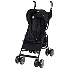 The Baby Trend Rocket stroller is super lightweight and fold very compactly for travel and storage. Features include a comfort grip handle and 5 point harness system, a large storage basket and large shade canopy . This stroller will keep car...