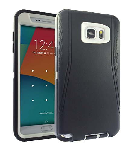 Shockproof Armor Case for Samsung Galaxy Note 5 (White) - 7