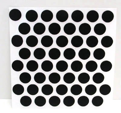 Fastcap Adhesive Cover Caps Pvc Black 9/16