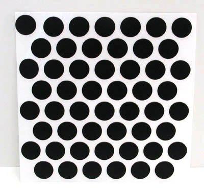 Fastcap Adhesive Cover Caps Pvc Black 9/16